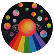 Cosmic III // Mixed Media on Record