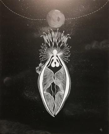 Lune Apaisée / 80x100cm / Acrylic on canvas