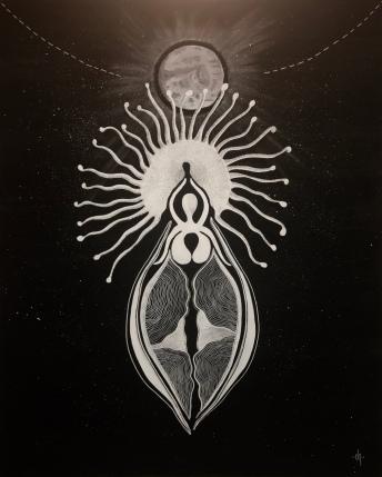 Lune Frénétique / 80x100cm / Acrylic on canvas