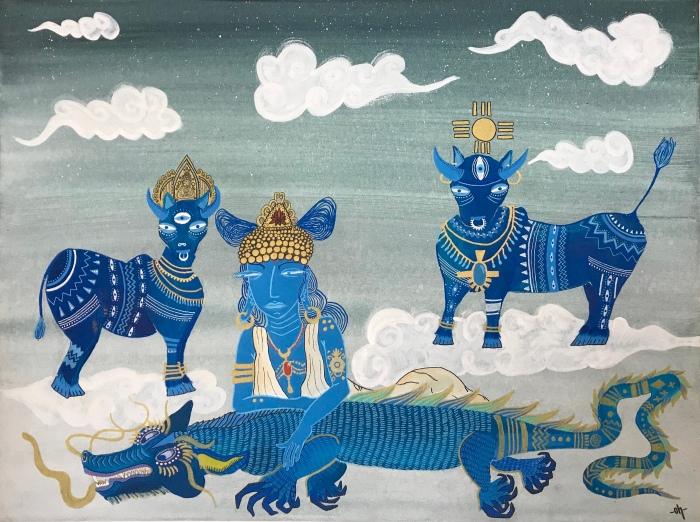 La Vierge et les taureaux